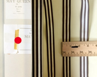 """Vintage Velvet  Rayon Stripe with Satin Back Ribbon, 1"""" Wide. Made in Switzerland. Sold  by the roll."""