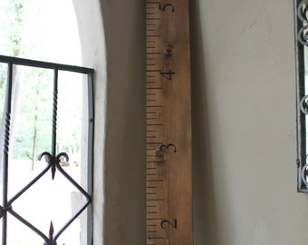 Giant Ruler Growth Chart/Decorative Wall Hanging
