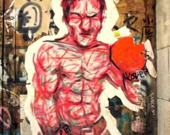 Barcelona photography / Graffiti / Box / street art / street art for home decoration