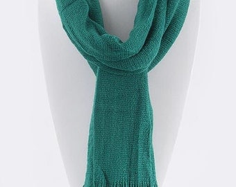 Teal Green Knit Scarf