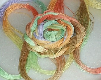 GIVE THANKS - Hand Painted, Dyed Lizbeth Size 20 Cordonet, Egyptian Cotton Thread for Tatting, Crochet