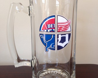 Beer Mug for Detroit sports fans!