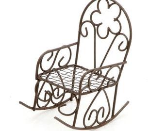 Fairy Garden Furniture Rocking Chair Dollhouse Miniatures Patio - 560