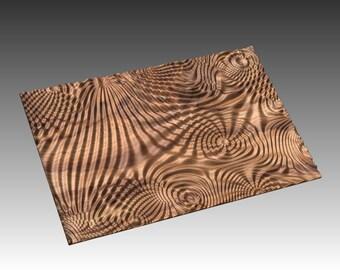 Decorative abstract 3D relief op-art sculpture model for CNC machining Flow 7692