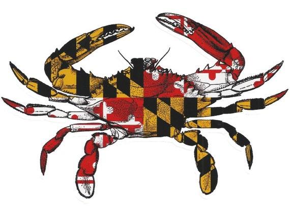 Maryland Flag Crab Decal Maryland Flag Crab Vinyl Decal