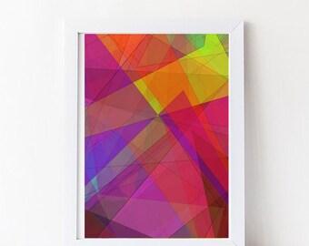 Geometric Art Print, Printable Wall Art, Triangles Print, Instant Download, Modern Wall Art, Mountain Print,  decor,INSTANT DOWNLOAD.