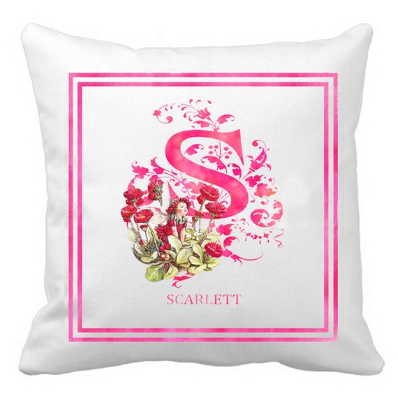 Custom Monogram Pillow Cover Art Decorative Pillow by LACOTEDESIGN