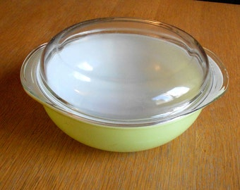 Vintage Pyrex Yellow Casserole Bowl with Lid