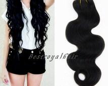 Body Wave Virgin Hair Extension Weft, 6A Quality 100% Human Hair bundle RHS301