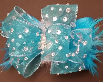 Over the top pageant bow