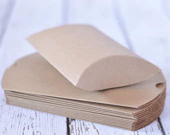 12-pack Kraft Pillow Boxes