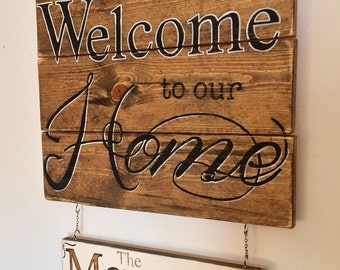 Custom Family Name Welcome Sign