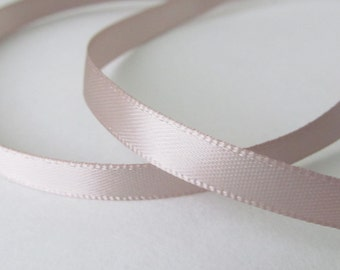 Taupe 1/4 inch double-face satin ribbon