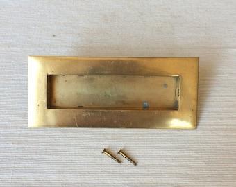 Vintage Brass Recessed Drawer or Cabinet Handles