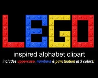 Lego Font Etsy