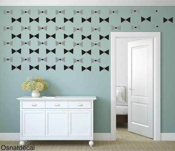 FREE SHIPPING Wall Decal Papillon Color Gray & Black. 60 Wall Decal. Nursery Decal. Vinyl Decal. Home Decor. Housewares.