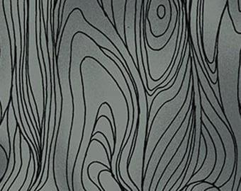 Gray Wood Fabric, Clothwork Friends in Wild Places Y1638-7, Gray Wood Grain Fabric, Gray Cotton, Gray Quilt Fabric, Gray Wood Fabric