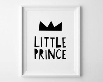 Baby boy nursery, Scandinavian print, Little Prince, boys Nursery art, Printable wall art,  kids decor, boys playroom sign, baby boy gift