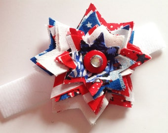 Patriotic Girl Dog Collar Flower