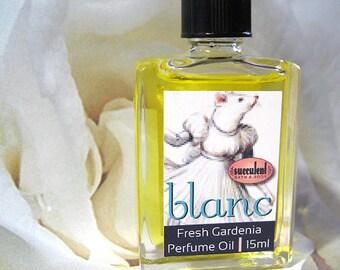 Gardenia Perfume Oil, Blanc Perfume 15ml .5 oz., alcohol-free perfume