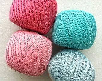 crochet cotton yarn #10, size 10 thread , 3 ply cotton yarn, 50g 220, YARNART lily