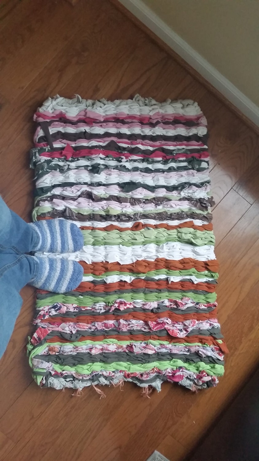 Upcycled T Shirt Rag Rug By Spoonfullofthread On Etsy
