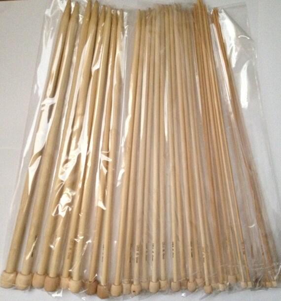 13 Bamboo single pointed knitting needles sizes us 0 1 2