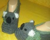 Koala Slippers crochet pattern in English only