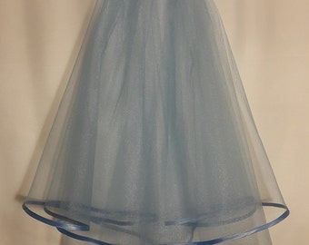 Cyan Wedding Veil, Two Layers