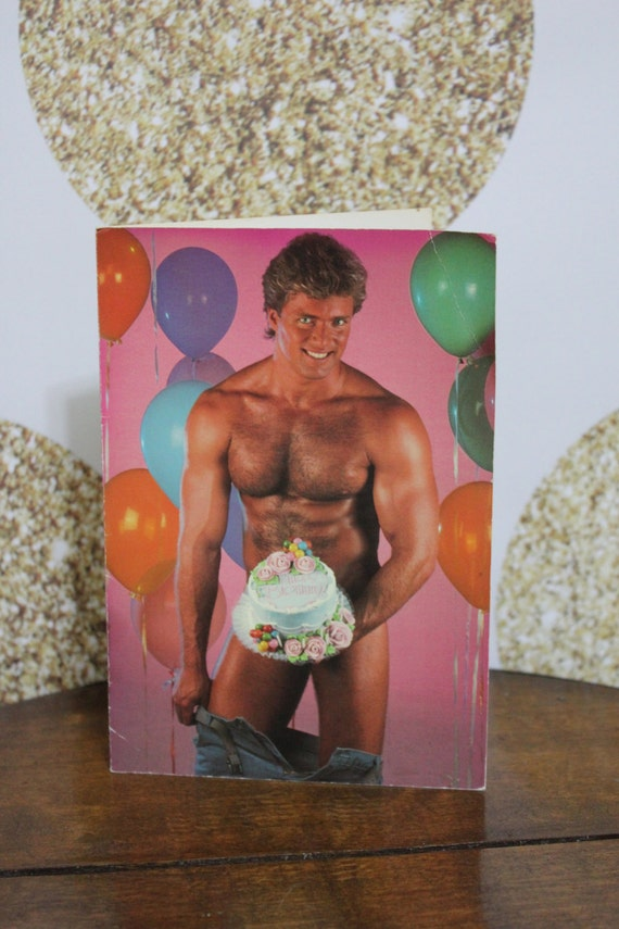 vintage chippendales sexy man birthday card hilarious gag, Birthday card