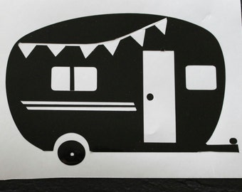 Glamping, Camping, Trailer Decal