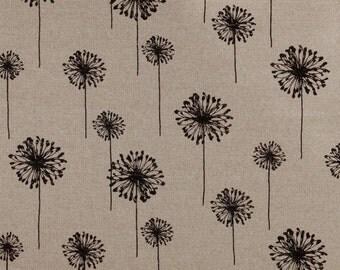 Valances.Dandelion black Curtain. Window treatment. Black denton .Designers pattern. Choose  your sizes