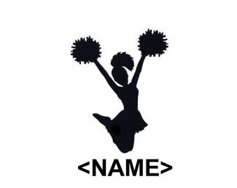 Cheerleader - Custom Name Option - Car/Truck/Phone/Computer/Home Decal