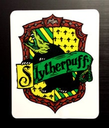 Slytherpuff Cross House Crest Vinyl Sticker