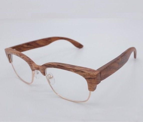 handmade wood reading glasses frame eyeglasses by