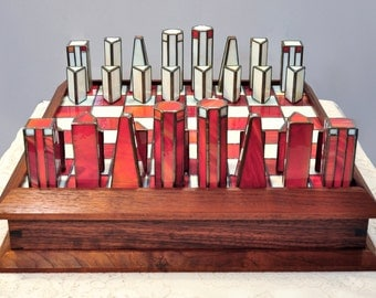 Stained Glass Chess Set