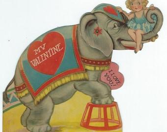 elephant valentine card - Elephant Valentine