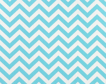 Premier Prints Zig Zag Girly Blue Twill Fabric - by the Yard