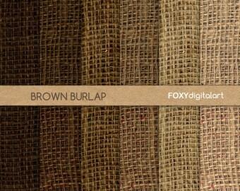 """Burlap digital paper: """"BURLAP PAPER"""" digital burlap texture, burlap textured digital paper pack, rustic scrapbooking, instant download- DP10"""