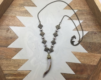 Boho on beaded chain necklace