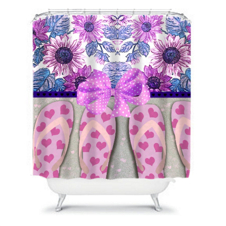 Shower Curtains With Birds Flip Flop Silverware