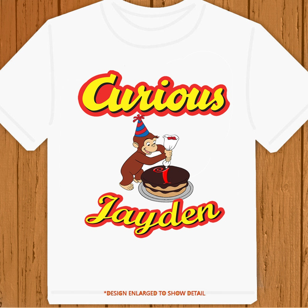 curious george personalized birthday t shirt by butterflylight