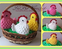 Handmade Egg Cosy / Warmer Crochet Easter Chicken / Chicks / Hen