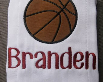Personalized Basketball Burp Cloth