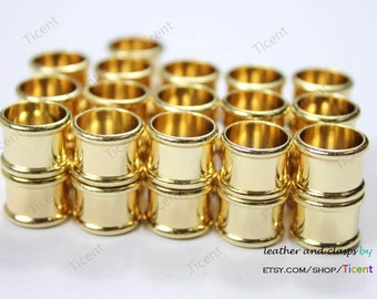 3 sets 10mm Diameter Hole Gold Plated Magnetic Clasp, Cylinder Clasp 18mm Long MT10M-457