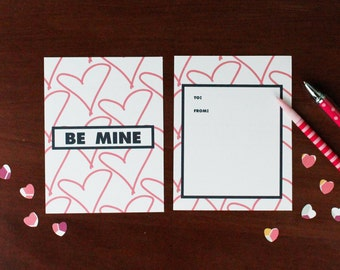 Printable Be Mine Valentine, Chic and Pretty Valentine for your friends, family, and co-workers