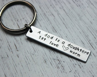 both sides can be engraved - 2 Lines engraved keychain - gifts for dad Customized Keychain, , dad gifts,
