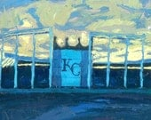 "Buy a 10"" x 10"" print of my oil painting of the Royal's Kauffman Stadium."