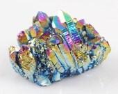 Rainbow Titanium Aura Quartz Crystal Cluster - Chakra Balancing, Energizing