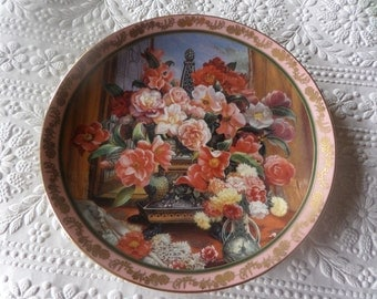 Royal Doulton plate, Franklin Mint Plate, Camellias and lace, Katherine Austen, fine bone china, Limited Edition, Plate no MA 1920, Heirloom